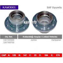 KAM3001 Saf Uyumlu 3307205600 3307300700 Jumbo Kampanalı Tip Porya Wheel Hub