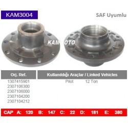 KAM3004 Saf Uyumlu 1307415901 2307106300 2307106000 2307104200 2307104212 Pilot 12 Ton Porya Wheel Hub