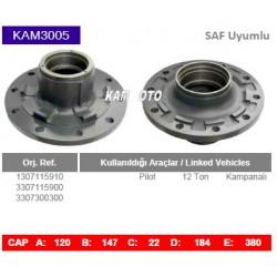 KAM3005 Saf Uyumlu 1307115910 3307115900 3307300300 Pilot 12 Ton Porya Wheel Hub