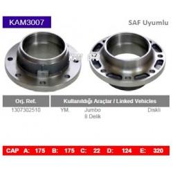 KAM3007 Saf Uyumlu 1307302510 Jumbo 8 Bijon Diskli Tip Porya Wheel Hub