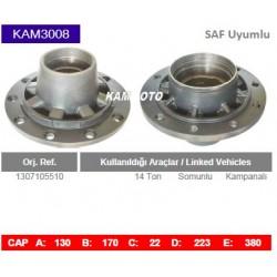 KAM3008 Saf Uyumlu 1307105510 14 Ton Porya Wheel Hub
