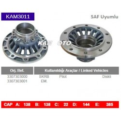 KAM3011 Saf Uyumlu 3307303000 3307303001 SKRB Pilot Diskli Tip Porya Wheel Hub