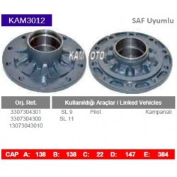 KAM3012 Saf Uyumlu 3307304301 3307304300 13073043010 SL9 SL11 Pilot Kampanalı Tip Porya Wheel Hub