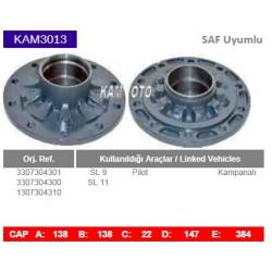 KAM3013 Saf uyumlu 3307304301 3307304300 1307304310 SL9 SL11 Pilot Kampanalı Tip Porya Wheel Hub