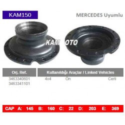 KAM150 Mercedes Uyumlu 3463340601 3463341101 On Cerli Tip Porya Wheel Hub