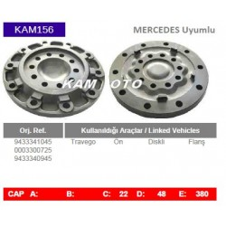 KAM156 Mercedes Uyumlu 9433341045 0003300725 9433340945 Travego On Diskli Tip Flanş Porya Wheel Hub