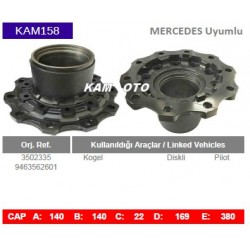 Mercedes Uyumlu 3502335 9463562601 Kogel Porya Wheel Hub