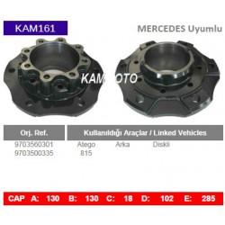 Mercedes Uyumlu Atego 815 Arka 9703500335 9703560301 Porya Wheel Hub