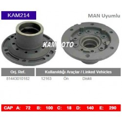 KAM214 Man Uyumlu 81443010182 12163 On Diskli Porya Wheel Hub