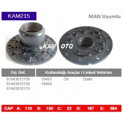 KAM215 Man Uyumlu 81443013159 81443010159 81443010179 19463 19464 On Diskli Tip Porya Wheel Hub