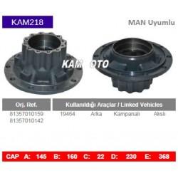 KAM218 Man Uyumlu 81357010159 81357010142 - 19464 Arka Kampanalı Akslı Tip Porya Wheel Hub