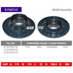 KAM219 Man Uyumlu 81357006136 81357006150 81357010174 TGA Arka Kampanalı Cerli Tip Porya Wheel Hub