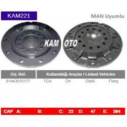 KAM221 Man Uyumlu TGA Ön Diskli Tip Flas Porya Wheel Hub