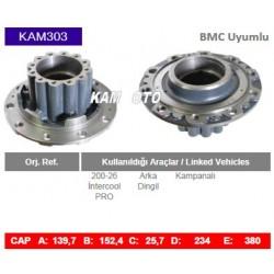 KAM303 Bmc Uyumlu 20026 Intercool Profesyonel Arka Dingil Porya Wheel Hub