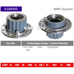 KAM305 Bmc Uyumlu Dev Fatih EM Arka Porya Wheel Hub