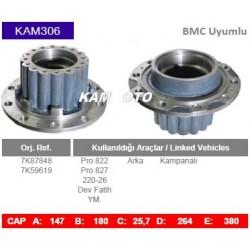KAM306 Bmc Uyumlu 7K87848 7K59619 Profesyonel 822 827 22026 Arka Porya Wheel Hub