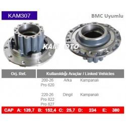 KAM307 Bmc uyumlu Profesyonel 620 Arka Porfesyonel 822 827 Dingil Porya Wheel Hub