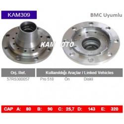 KAM309 Bmc Uyumlu 57RS300057 Profesyonel 518 Ön Diskli Tip Porya Wheel Hub