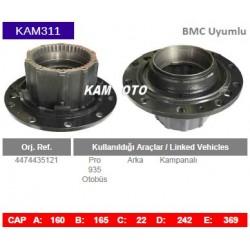 BMC Uyumlu Pro 935 Arka Otobüs Porya Wheel Hub KAM311 4474435121