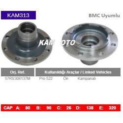 KAM313 Bmc Uyumlu 57RS308137M Profesyonel 522 On Kampanalı Tip Porya Wheel Hub