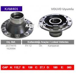 KAM401 Volvo Uyumlu 20374418 1626994 FH12 Ön Kampanalı Tip Porya Wheel Hub
