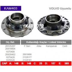 KAM403 Volvo Uyumlu 20535207 20819804 1075408 20820402 1075428 1076526 20819806 21328177 21328181 F Seri Arka Porya Wheel Hub