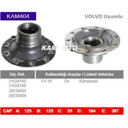 KAM404 Volvo Uyumlu 21024160 21024166 20534905 20535904 FH16 Ön Kampanalı Tip Porya Wheel Hub