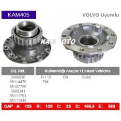KAM405 Volvo Uyumlu 3988930 85107750 3989341 85107750 85111448 85114470 85111791 FH12 Ön Diskli Tip Porya Wheel Hub