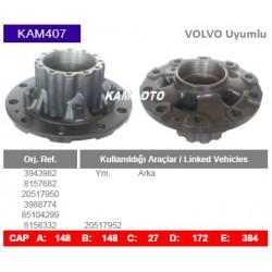 KAM407 Volvo Uyumlu 3943982 8157682 20517950 3988774 85104299 8156332 20517952 Arka Porya Wheel Hub