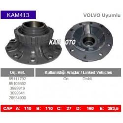 KAM413 Volvo Uyumlu 85111792 85105692 3989919 3099341 20534900 Ön Diskli Tip Porya Wheel Hub