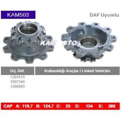 KAM503 Daf Uyumlu 1391615 1697346 1388905 Porya Wheel Hub