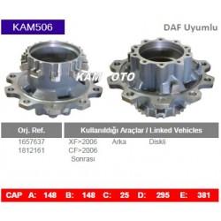 KAM506 Daf Uyumlu 1657637 1812161 XF CF Arka Diskli Tip Porya Wheel Hub