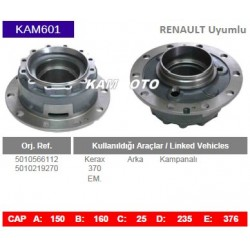 KAM601 Renault Uyumlu 5010566112 5010219270 Kerax 370 Arka Kampanalı Tip Porya Wheel Hub