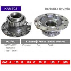 KAM603 Renault Uyumlu 7420535202 1026659 7485114470 Premium On Diskli Tip Porya Wheel Hub