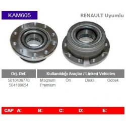 KAM605 Renault Uyumlu 5010439770 504189654 Magnum Premium On Gobek Diskli Tip Porya Wheel Hub