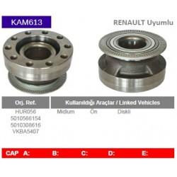 KAM613 Renault Uyumlu HUR056 5010566154 5010308616 VKBA5407 Midlum Gobek Porya Wheel Hub