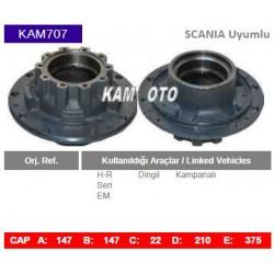 KAM707 Scania Uyumlu H-R Seri Dingil Kampanalı Tip Porya Wheel Hub