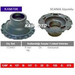 KAM708 Scania Uyumlu 1724407 R Seri On Kampanalı Tip porya Wheel Hub