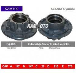 KAM709 Scania Uyumlu 1724788 Arka Kampanalı Tip Porya Wheel Hub