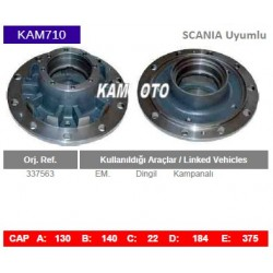 KAM710 Scania Uyumlu 337563 Dingil Kampanalı Tip Porya Wheel Hub