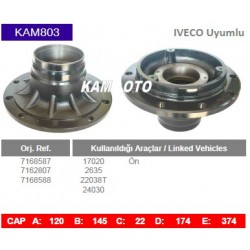 KAM803 Iveco Uyumlu 7168587 7162807 7168588 On Porya Wheel Hub