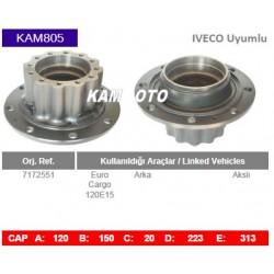 KAM805 Iveco Uyumlu 7172551 Euro Cargo 120E15 Arka Akslı Tio Porya Wheel Hub