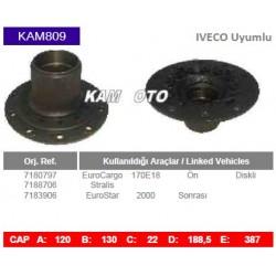 KAM809 Iveco Uyumlu 7180797 7088706 7183906 Euro Cargo Stralis Euro Star On Diskli Tip Porya Wheel Hub