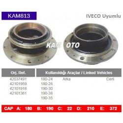 KAM813 Iveco Uyumlu 42037491 42101959 42101918 42101361 Arka Cerli Tip Porya Wheel Hub