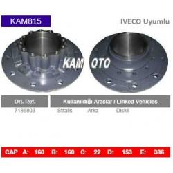 KAM815 Iveco Uyumlu 7186803 Stralis Arka Diskli Tip Porya Wheel Hub
