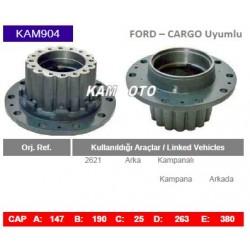 KAM904 Ford Cargo Uyumlu 2621 Arka Porya Wheel Hub