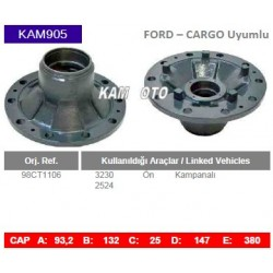 KAM905 Ford Cargo Uyumlu 98CT1106 3230 2524 On Porya Wheel Hub