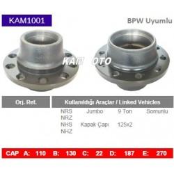 KAM1001 Bpw Uyumlu 0327227200 Porya Wheel Hub