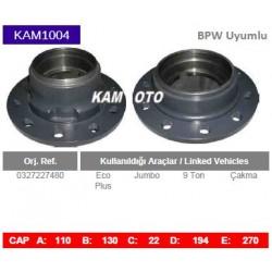 KAM1004 Bpw Uyumlu 0327227480 Eco plus Jumbo 9 Ton Çakma Tip Porya Wheel Hub