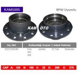 KAM1005 Bpw Uyumlu 0327244240 Eco KH KR Jumbo 12 Ton Somunlu Tip Porya Wheel Hub